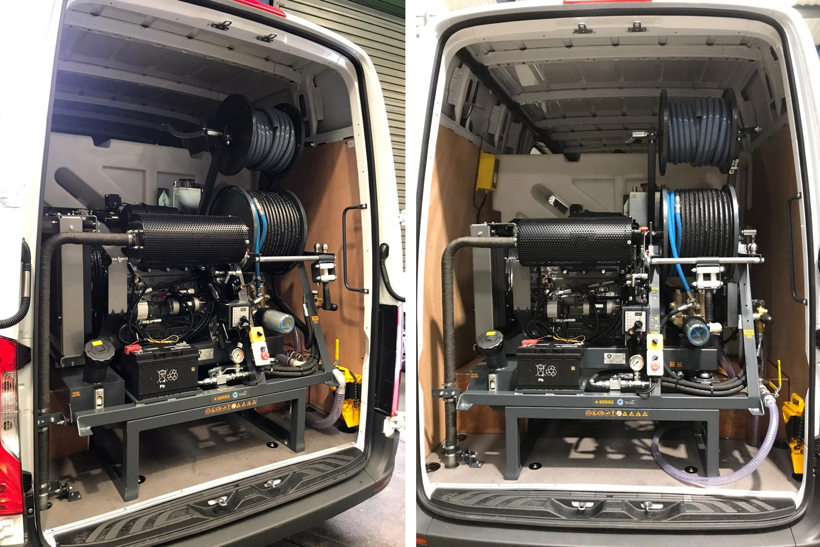 The customised 4-Series jetter installed in a 5-tonne van